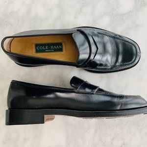 Cole Haan Penny Loafer Black 8.5 Italy Dress Shoe